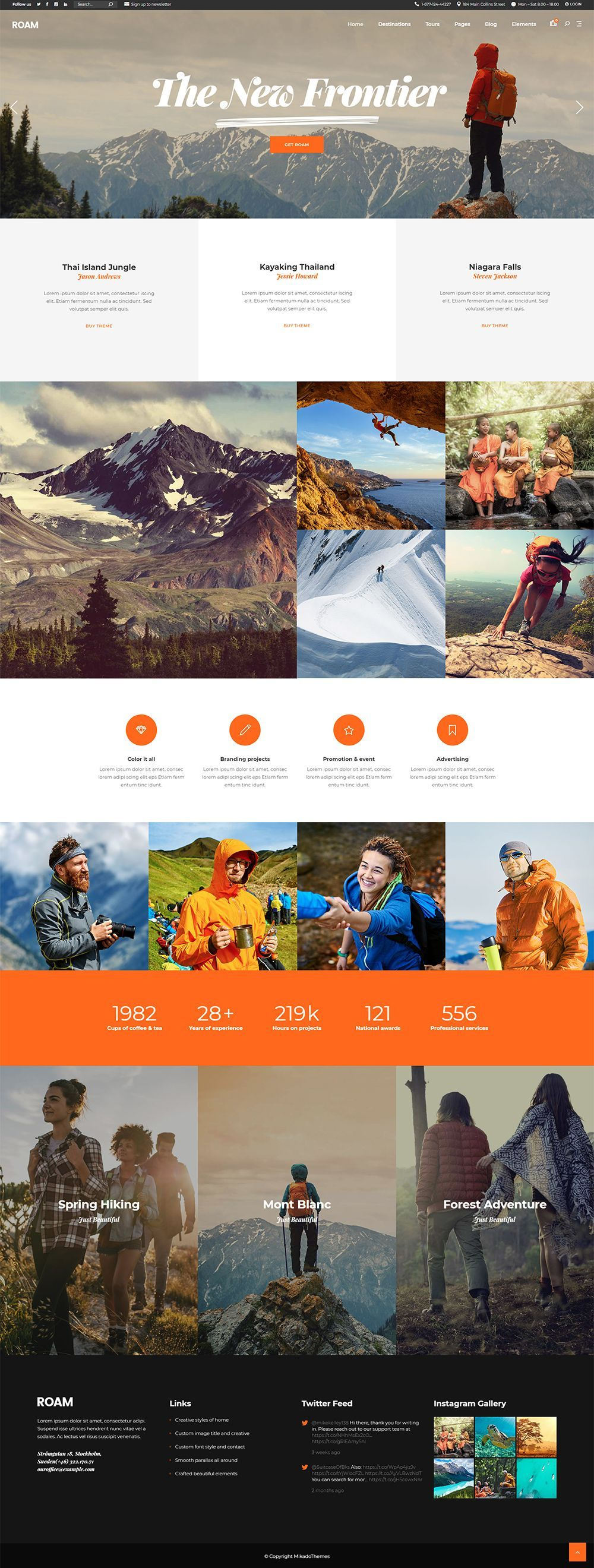 Start your online travel adventure today with Roam WordPress theme! #webdesign #design #layout #template #uxdesign #uidesign #travel #travelagency #responsive #wordpresslove #webdesigninspiration #responsivedesign #webdesigntrends #booking #tours #holidays #vacation #touroperator #travelblog