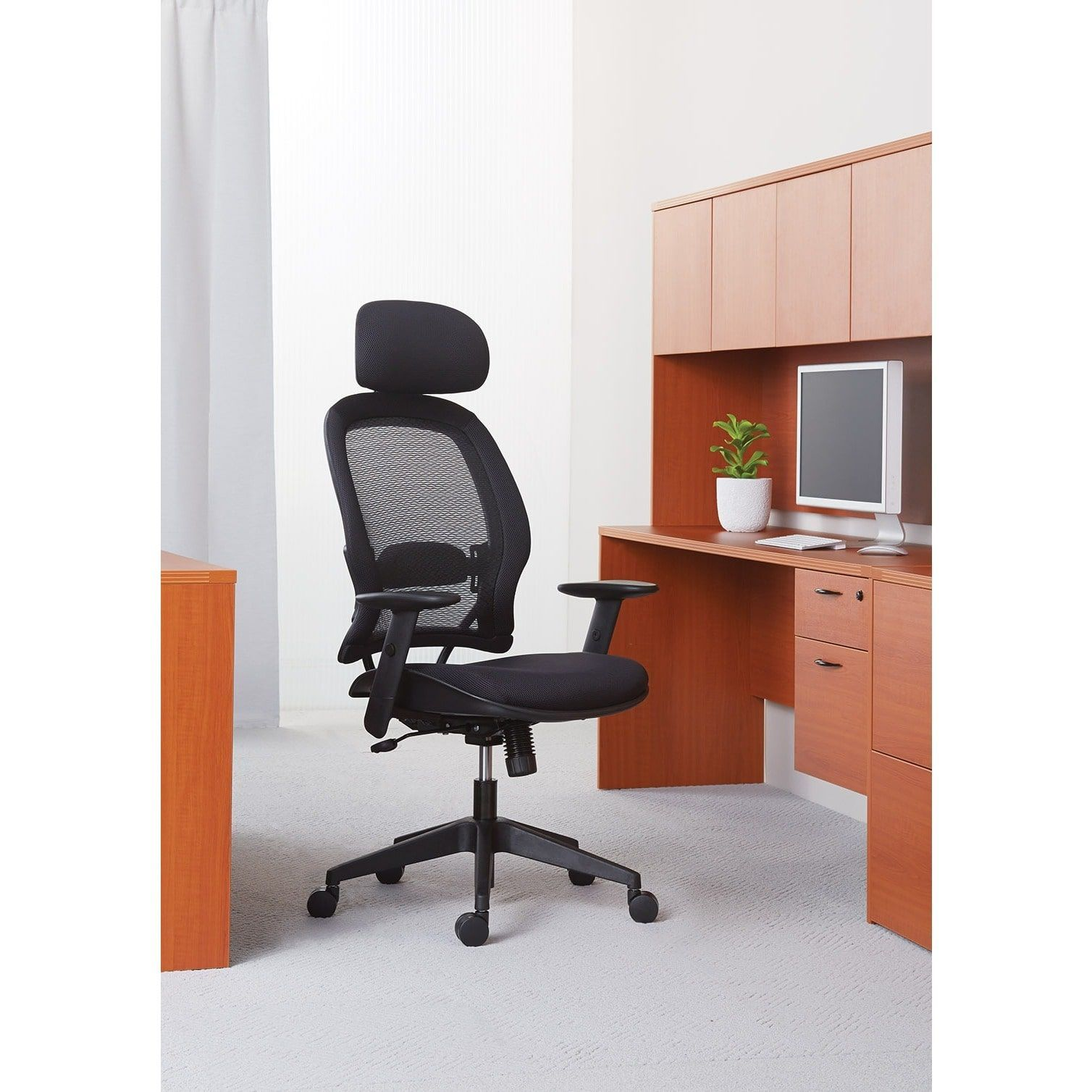 Office Star Professional AirGrid® Back And Mesh Seat Chair With Adjustable  Headrest   N/A, Office Star Products
