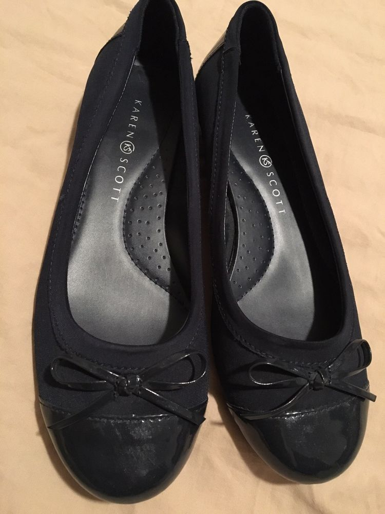 f3a5bd8e14d1 Karen Scott Women s Rylee Comfort Flats Navy Blue Size 8.5 M US Preowned   fashion  clothing  shoes  accessories  womensshoes  flats (ebay link)