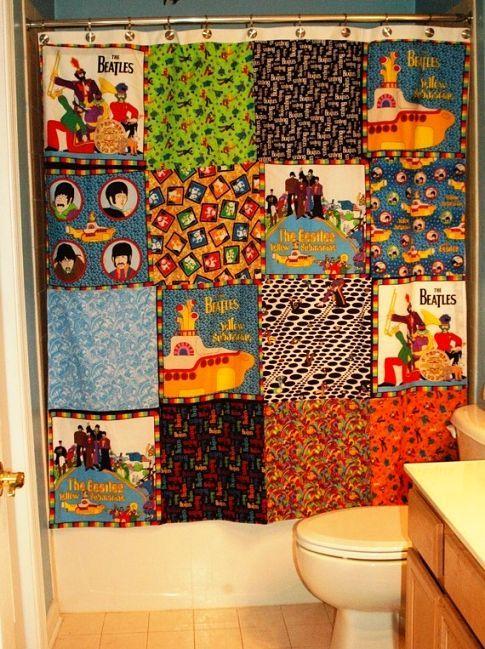 Beatles Shower Curtain Beatles Fabrics The Beatles