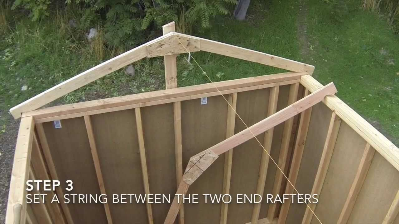 How to build a shed part 7 shed roof framing patio for Shed cupola plans