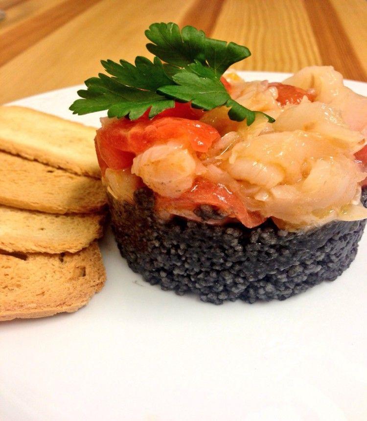 Cous-cous negro con bacalao y tomates cherry :: Cocinando con @mariadelamiel
