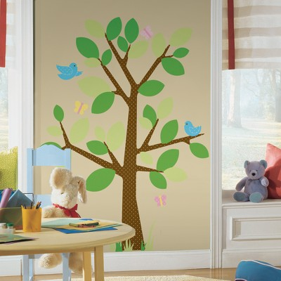 Dotted Tree Peel & Stick Giant Wall Applique,