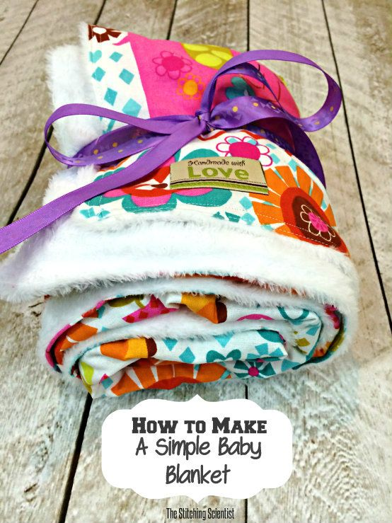 How to sew a simple baby blanket - using cuddle on one side and ...