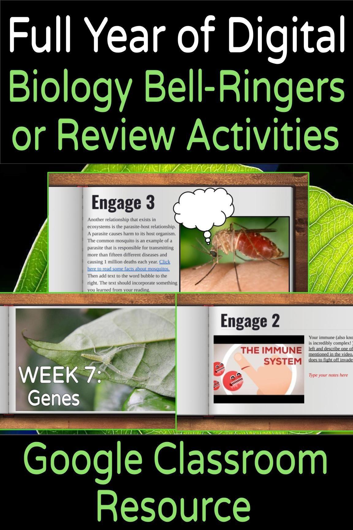 Digital Biology Life Science Bell Ringer Or Review