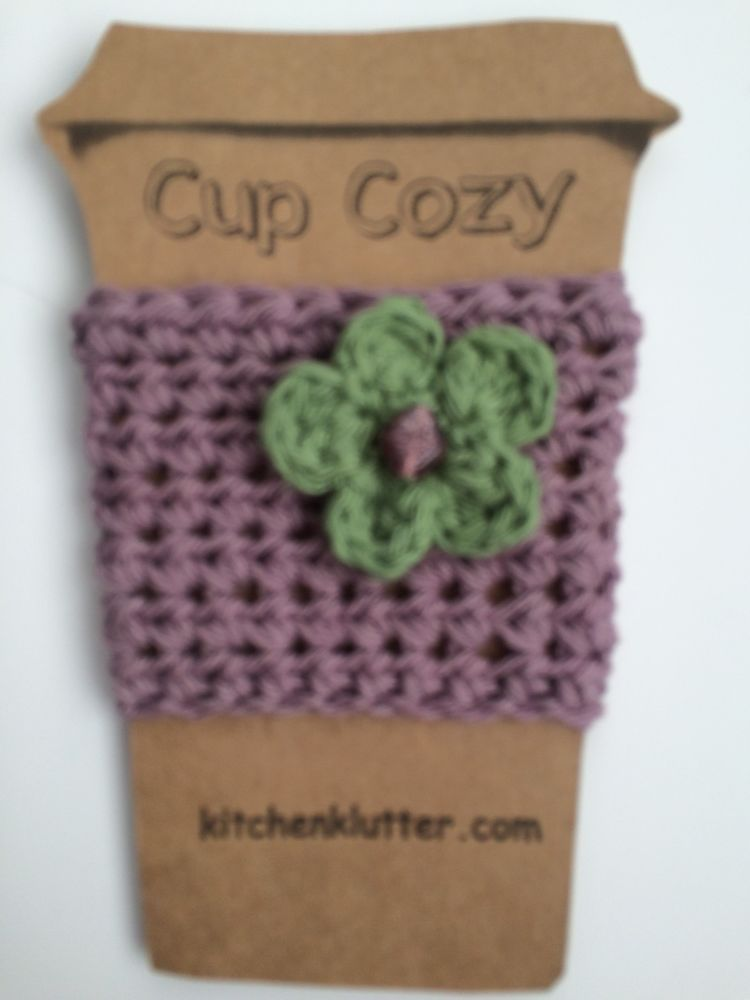 Homepage With Images Coffee Cup Sleeves Beaded Flowers Cotton Crochet