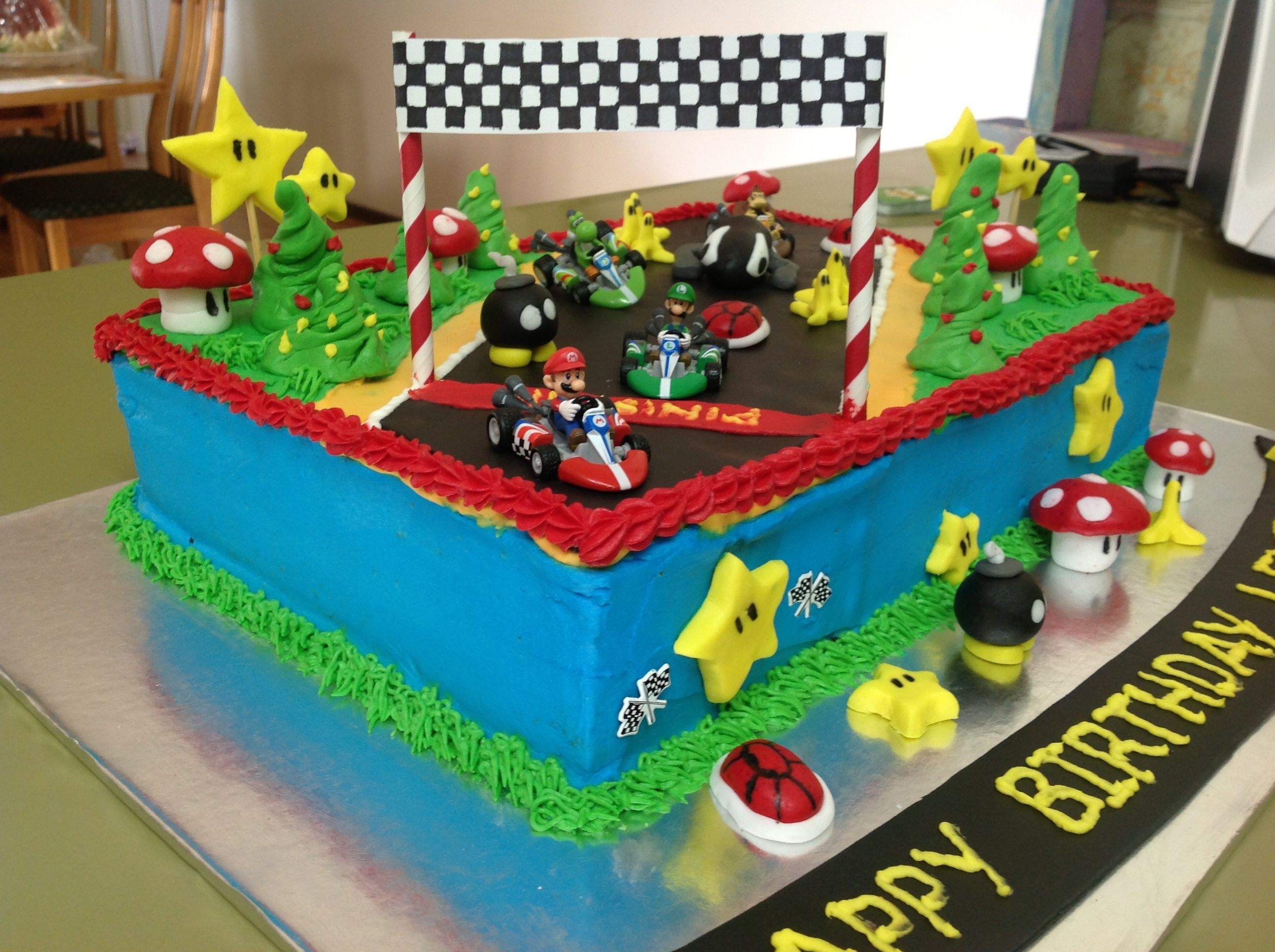 Mario Kart Birthday Cake Mario Kart Cake Birthday Cake Kids