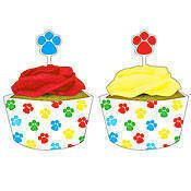 Paw-ty Time Cupcake Wrappers and Picks