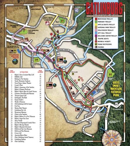 Detailed Map Of Gatlinburg Gatlinburg Maps Gatlinburg Space - Detailed map of tennessee