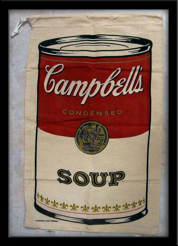 Andy Warhol Pop Art Campbell Soup Can Bag 30 Off Sale Etsy Andy Warhol Pop Art Campbell S Soup Cans Campbell Soup