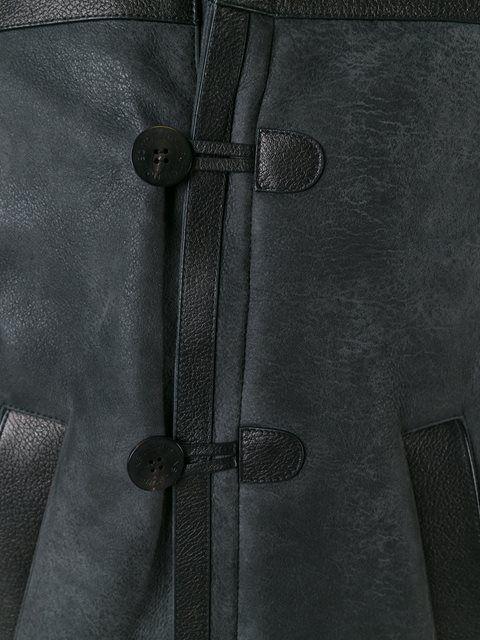 Shop Neil Barrett hooded leather jacket in Tiziana Fausti from the world's best…