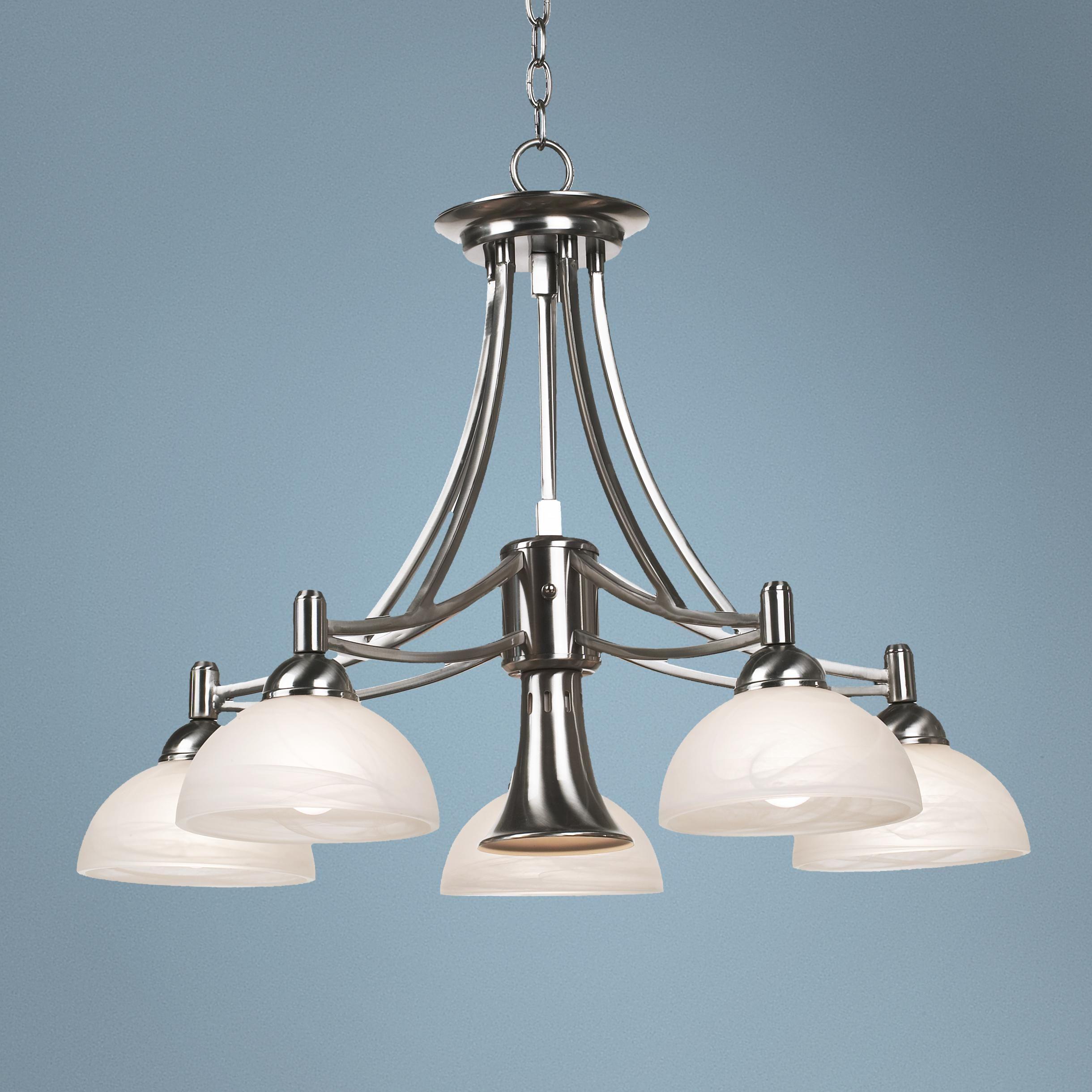 Contemporary Brushed Nickel Downlight Chandelier -   street light ...