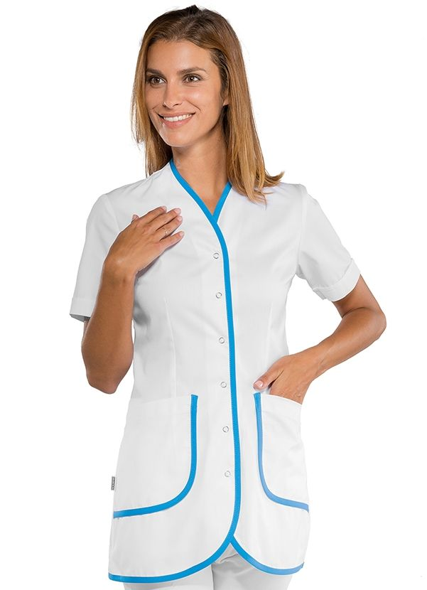 134d25e788 Tunique médicale Femme Azur. Blouse aide soignante. Blouse aide soignante Tenue  Medicale ...