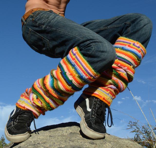 lordvonschmitt\'s men\'s #crochet legwarmers (striped) | CrochetHolic ...