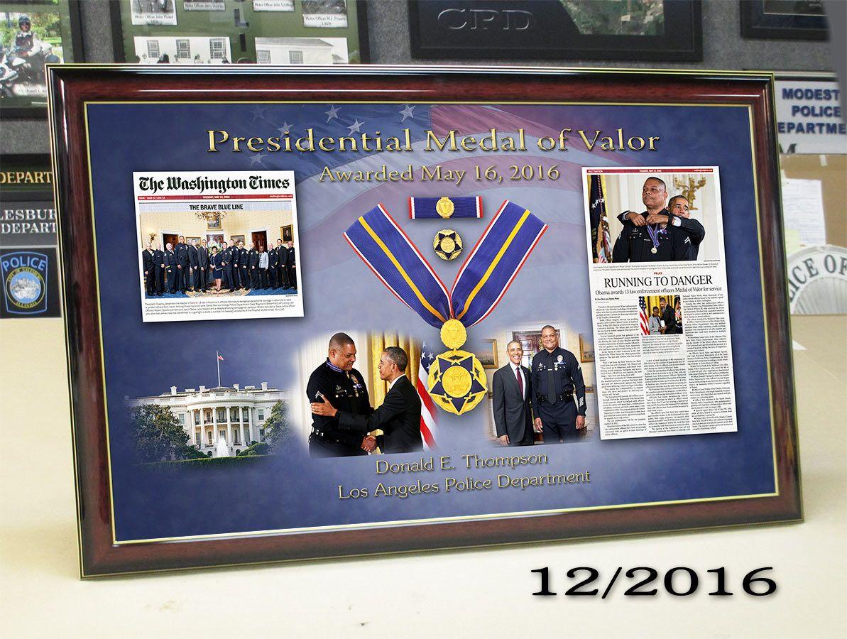 Thompson - LAPD - Presidential Medal of Valor Presentation