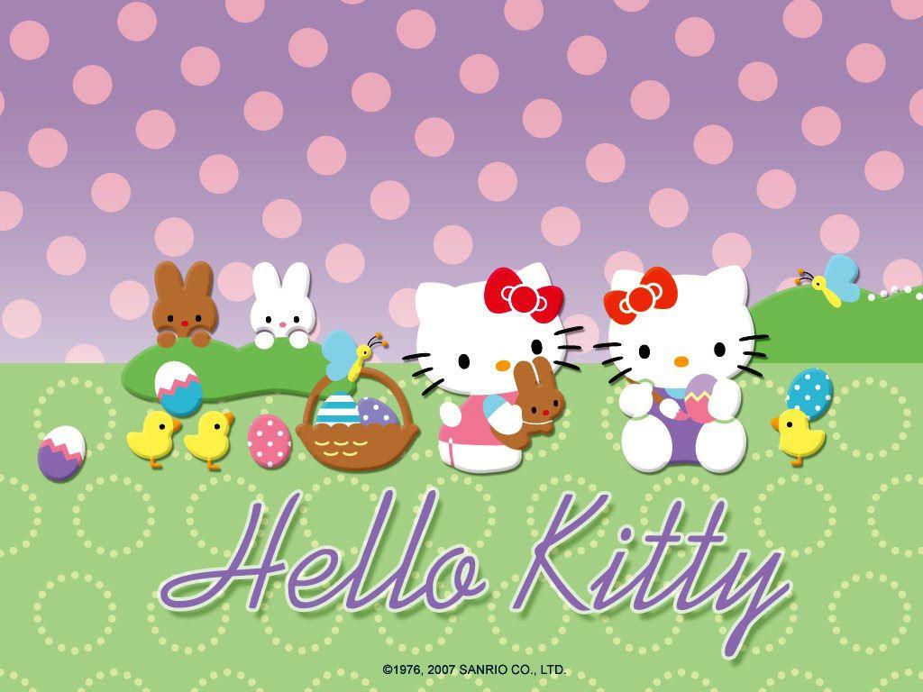 Easter Wallpaper Hello Kitty Cute Easter Bunny Desktop Wallpaper