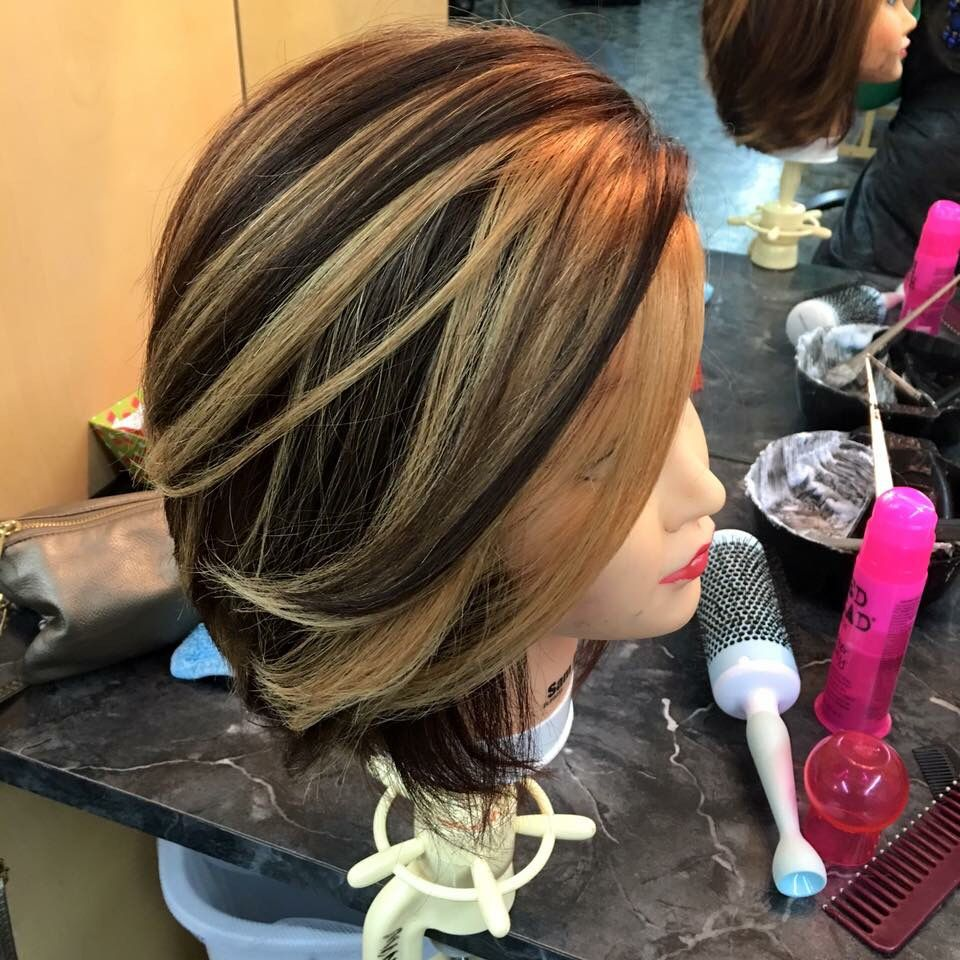 Dark Brown Hair With Caramel Highlights When You Foil It