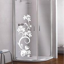 dekor folie glas dekor aufkleber fensterbild dusche fenster spiegel blume 10 vyst ihov nky. Black Bedroom Furniture Sets. Home Design Ideas