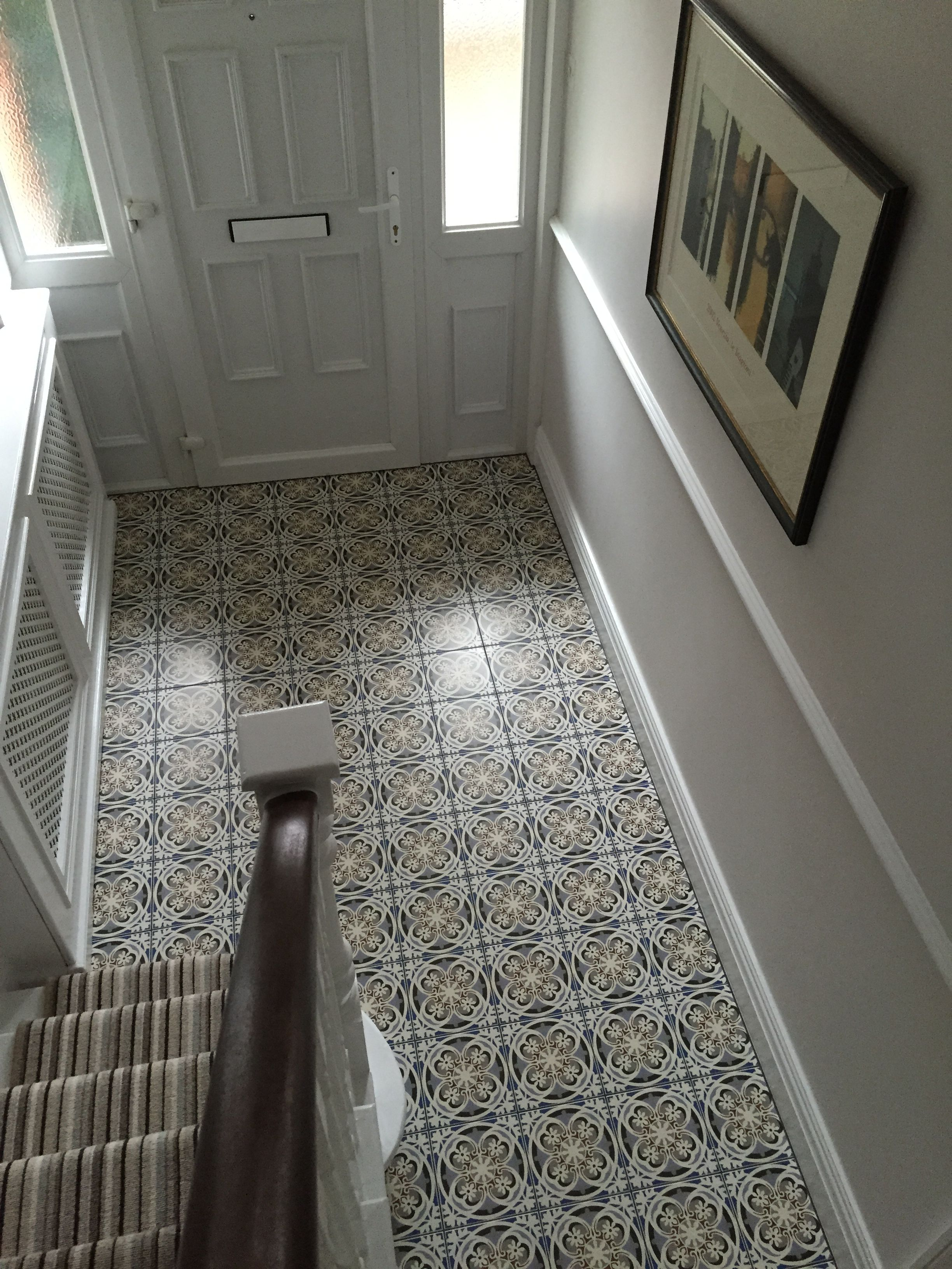 Fired Earth Abbey Fountains tiles in entrance hallway