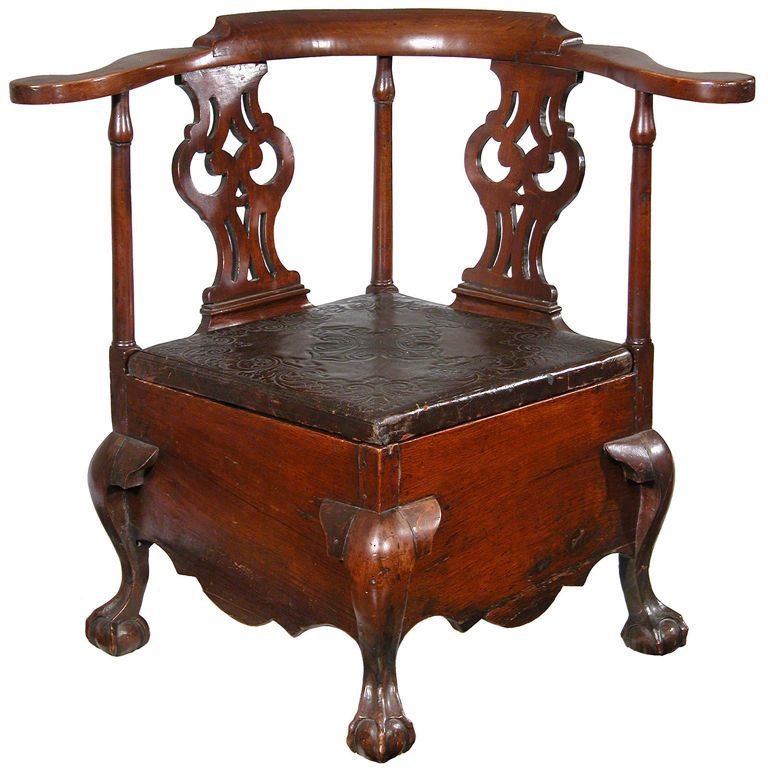 fully developed mahogany chippendale commode stool les toilettes toilette et chaises. Black Bedroom Furniture Sets. Home Design Ideas