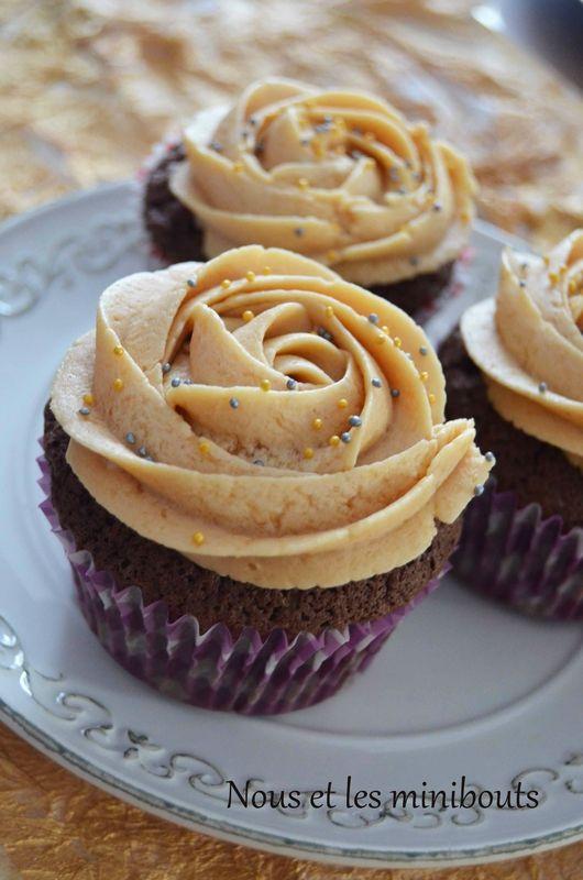 Cupcakes chocolat et caramel au beurre salé
