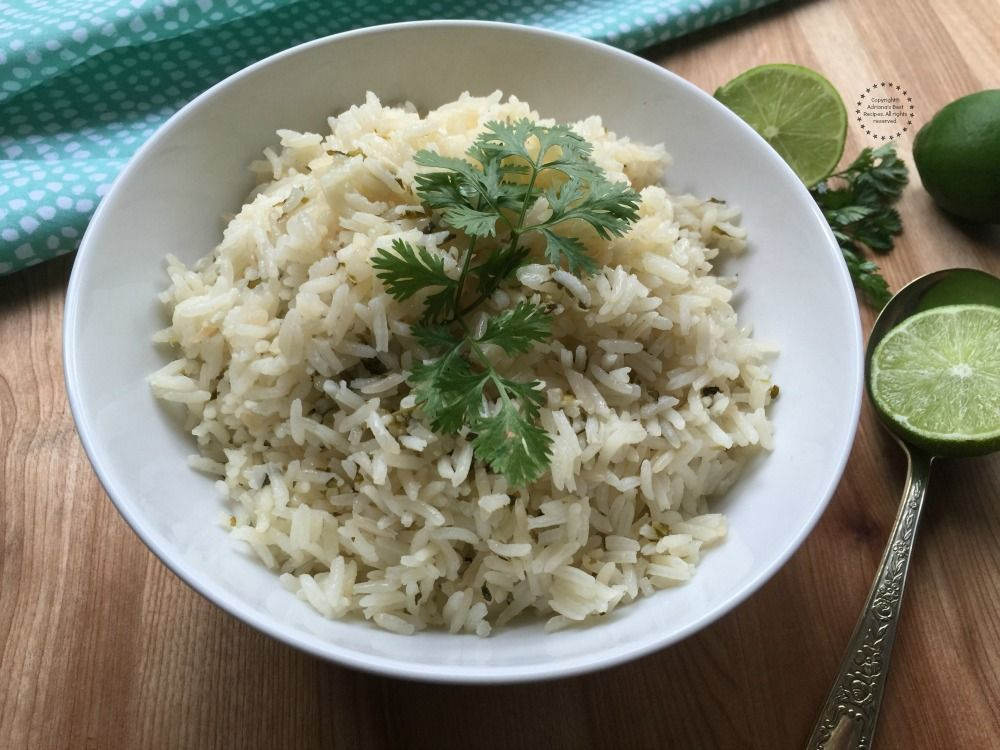 Cilantro Lime Rice is one of those recipes that you need in hand since this is the perfect side dish to so many different meals including grilled meats.