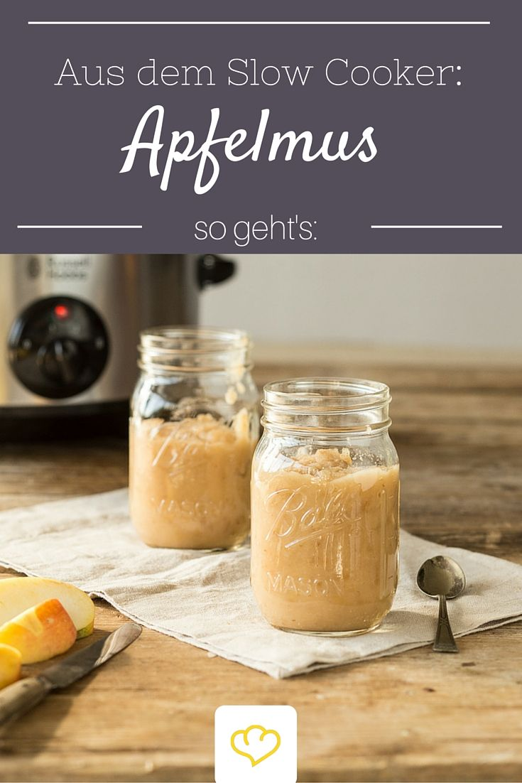 Apfelmus aus dem Slow Cooker #healthycrockpotchickenrecipes