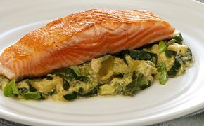 Braised Spring Vegetables with Salmon