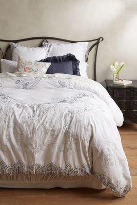 Anthropologie Ava Embroidered Duvet #anthroregistry