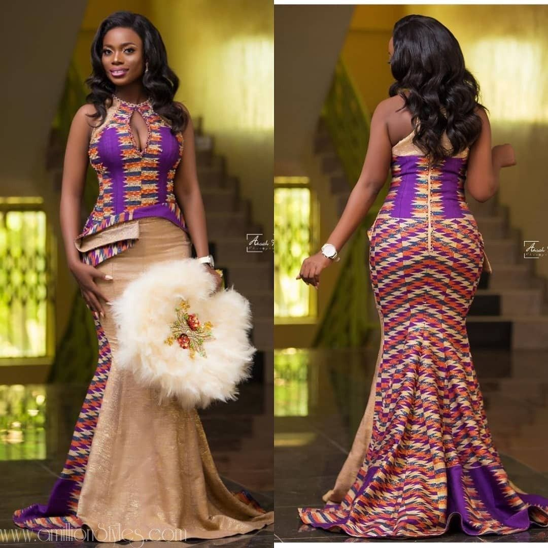 The Sweetest 2019 Kente Styles You Ll See A Million Styles In 2020 African Traditional Wedding Dress African Fashion Dresses African Fashion Skirts