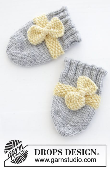 Little Miss Ribbons Mittens / DROPS Baby 31-11 - Conjunto que ...