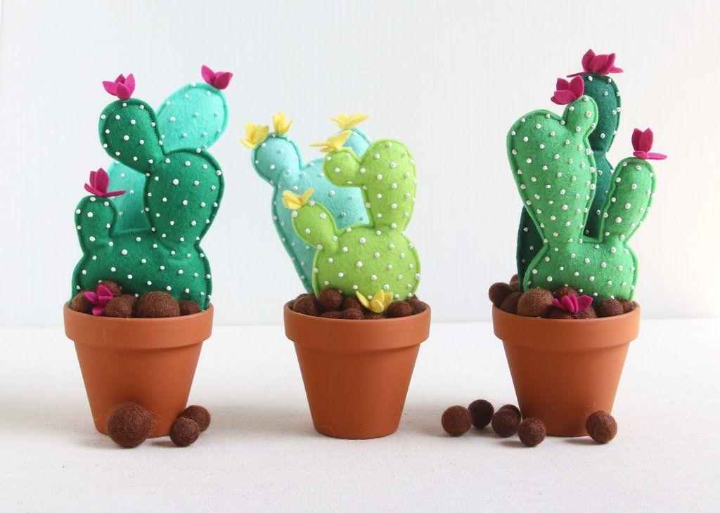 Cactus Arredamento ~ Felt cactus diy cacti tutorials and felting