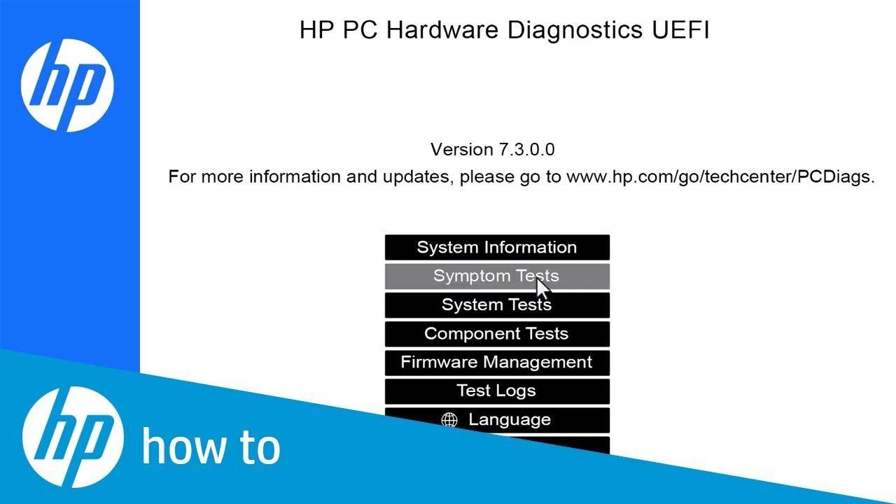 How To Use Hp Pc Hardware Diagnostics Uefi Computer Hardware