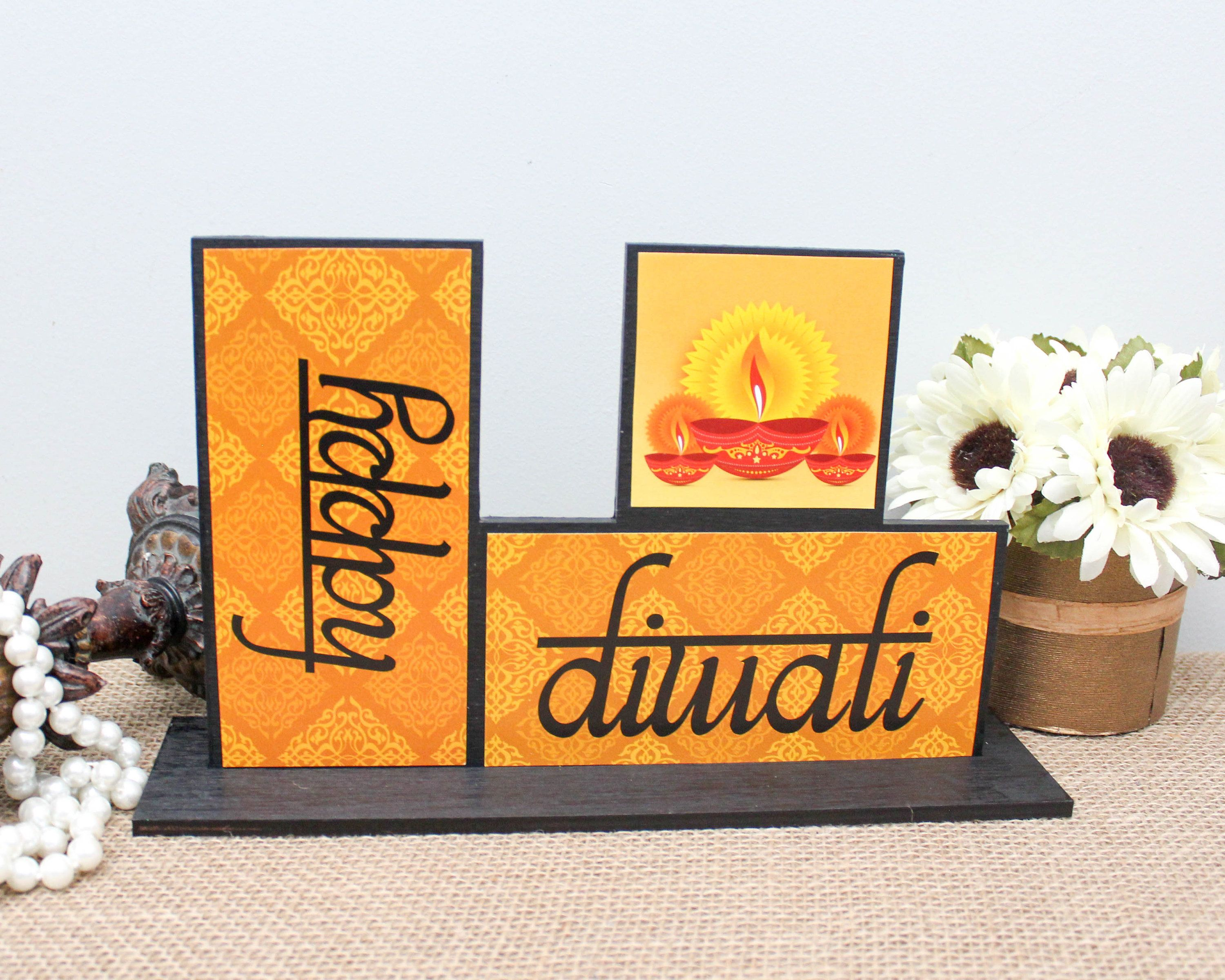 Happy Diwali Decoration, Diwali Decor, Diwali Hostess Gift, Deepavali Gift for Kids, Hindu Festival of Lights, Indian Home Decor