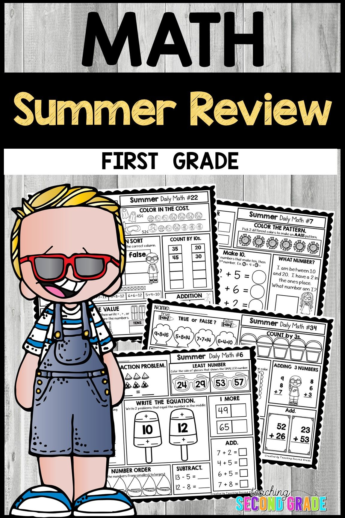 Summer Math Worksheets