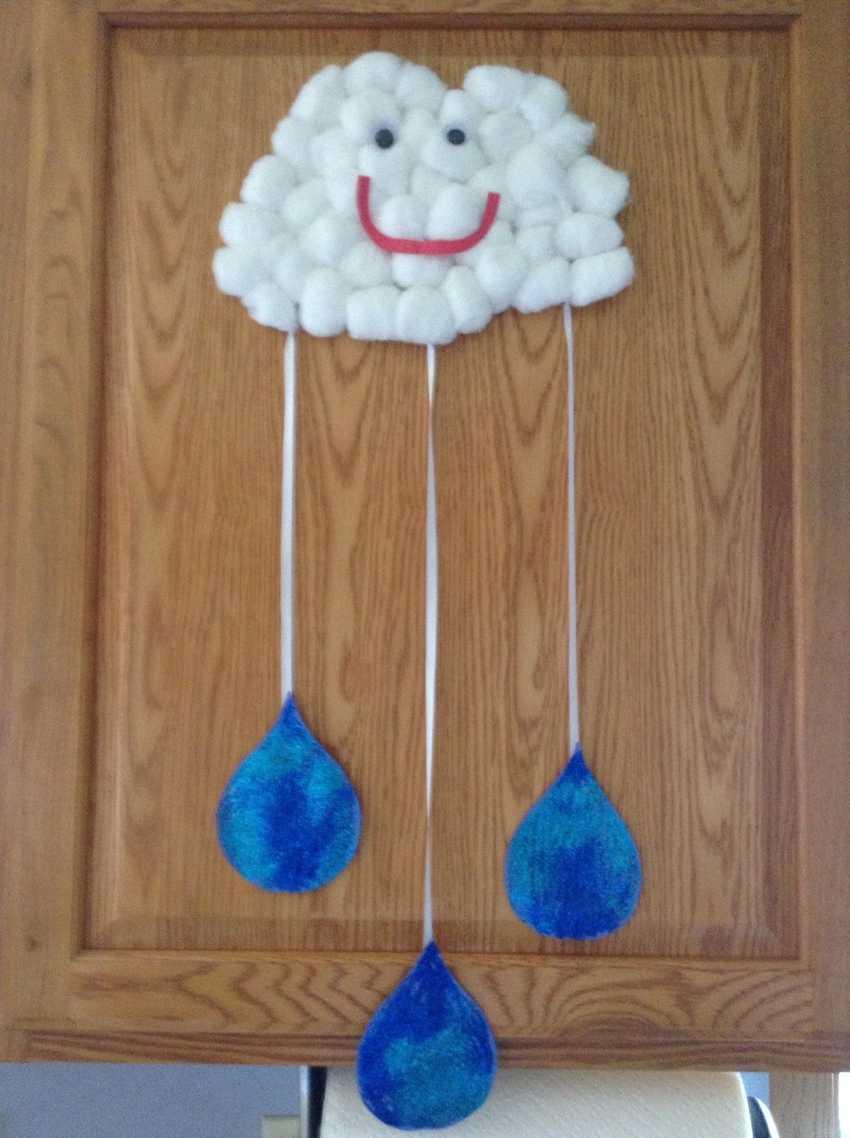 Cotton Ball Cloud And Rain Drops We Will Make A Few More Raindrops And Write Describing Words