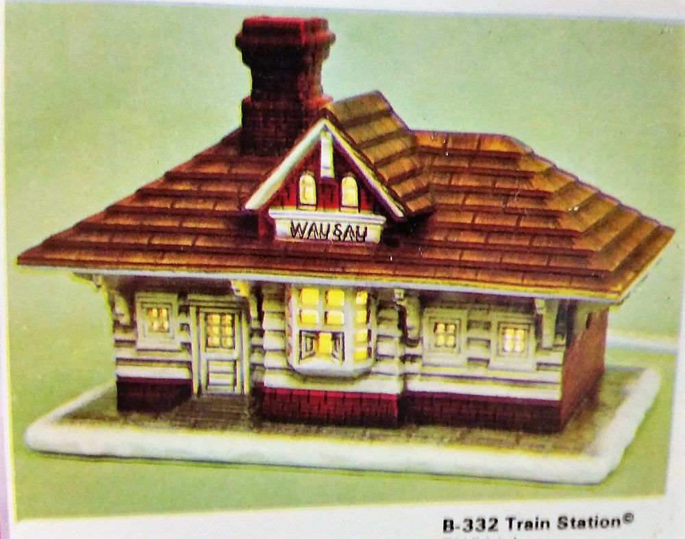 Ready to Paint Train Station Currier & Ives Christmas Village ...