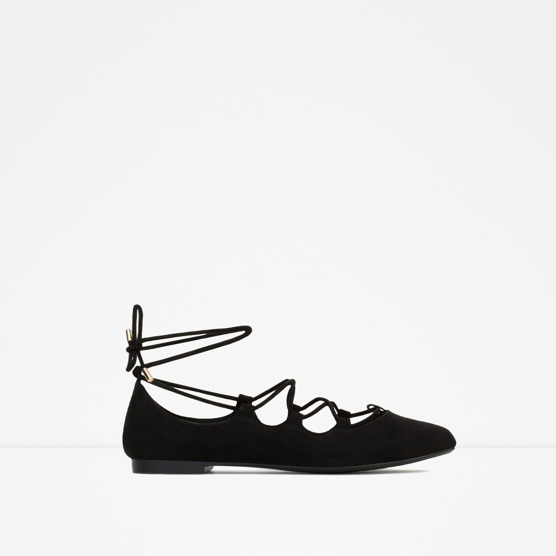 BAILARINA ATADA - Zapatos - Mujer - COLECCIÓN AW15 | ZARA España