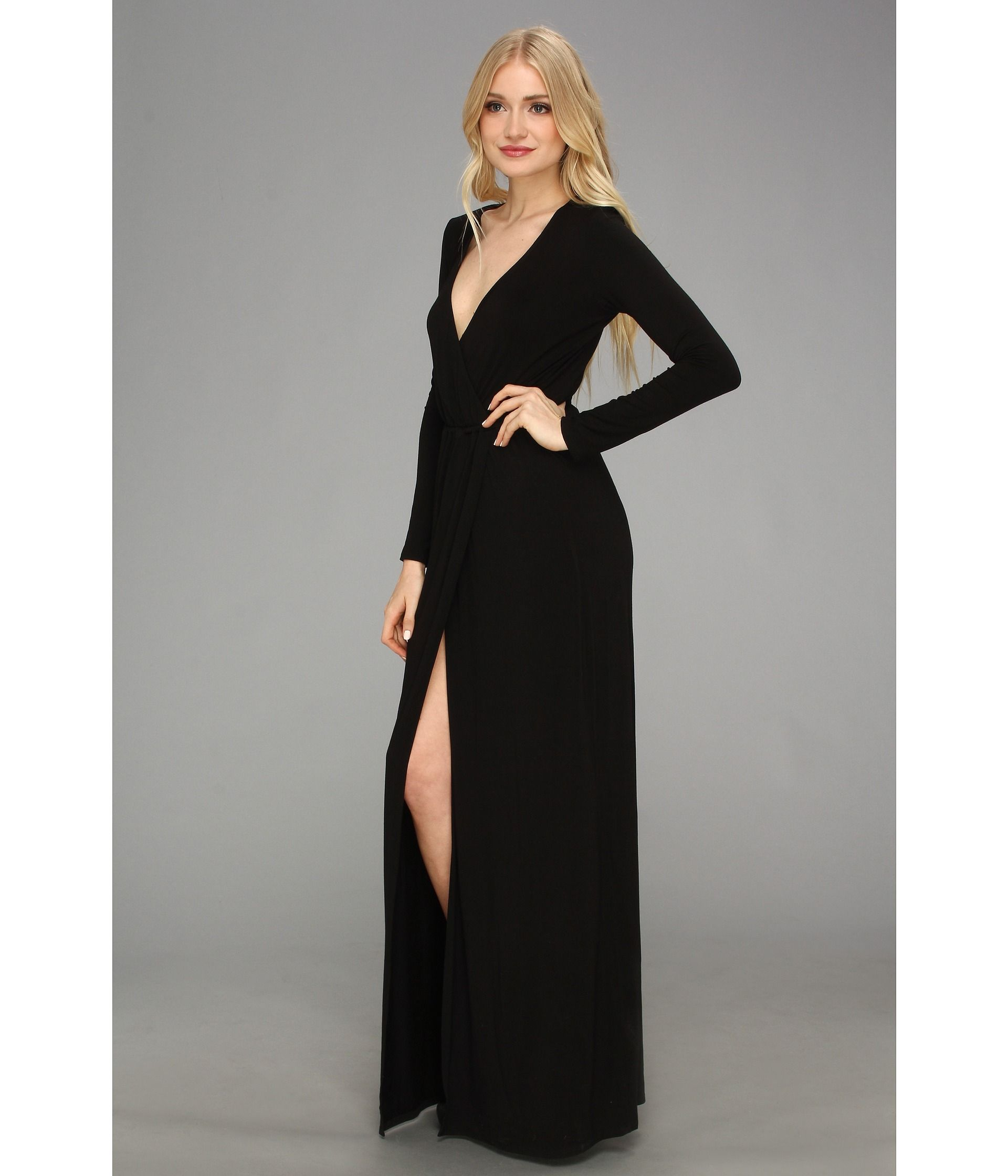 Incredible Long Maxi Dresses Designs : Black Long Sleeve Chiffon ...