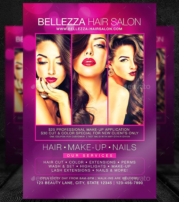 DownloadHairSalonFlyerTemplatePsdFormatJpg   Flyer