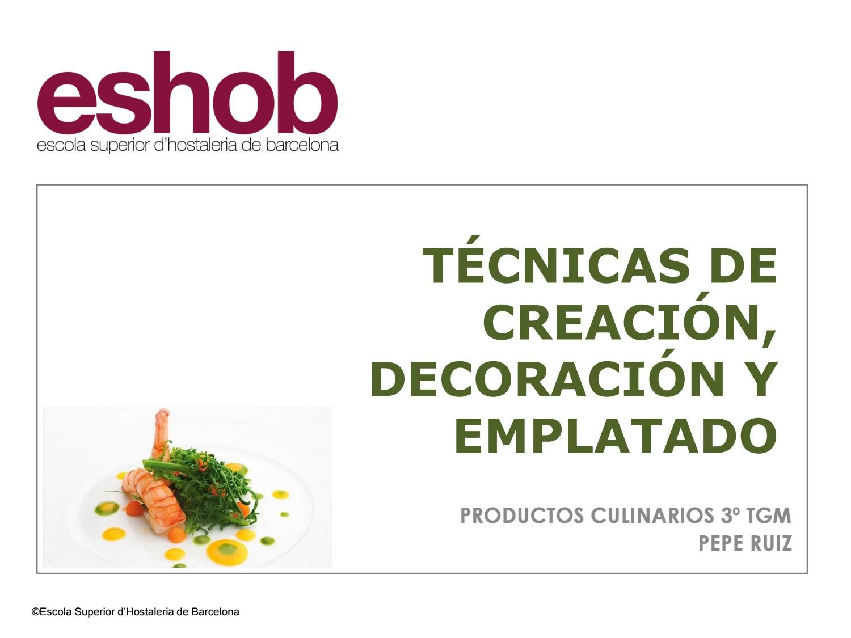 T cnicas de creaci n decoraci n y emplatado t cnicas de for Gastronomia molecular libro