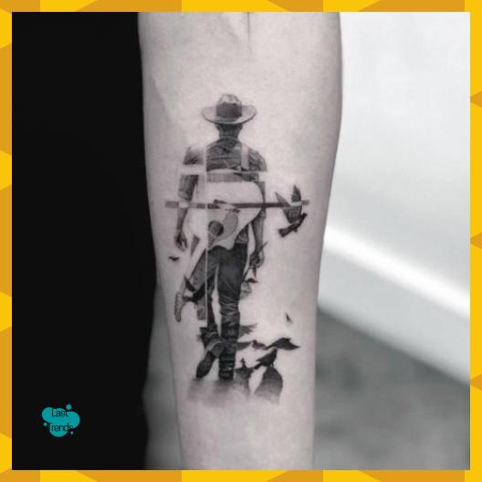 60 Cowboy Hat Tattoo Ideas For Men Western Designs Melly Blog Cowboy Designs Hat Ideas Men Music Ta In 2020 Tattoos For Guys Cowboy Tattoos Cowboy Hat Tattoo