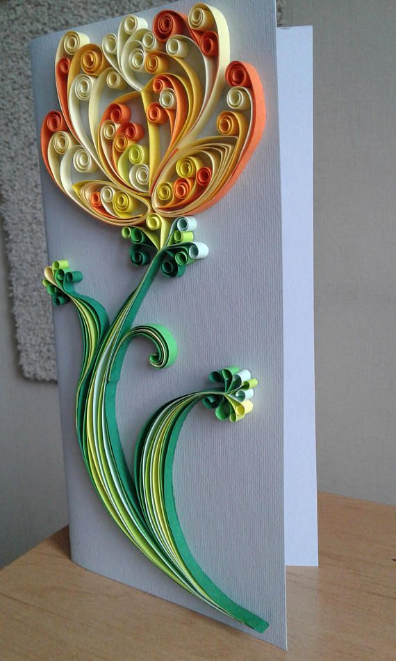 Quilling card greeting cards love anniversary handmade floral flowers patterns birthday also rh pinterest