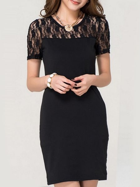 rendy Lace Patchwork Bodycon-dress 11.95