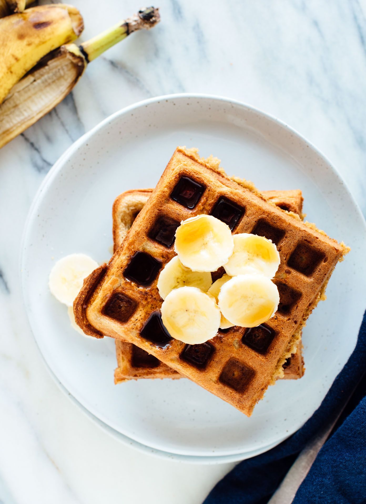 Gluten Free Banana Oat Waffles Cookie And Kate Recipe Gluten Free Banana Waffle Recipes Banana Waffles