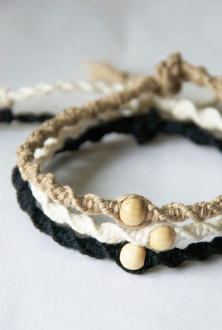 DIY – gedrehtes Makramee Armband knüpfen