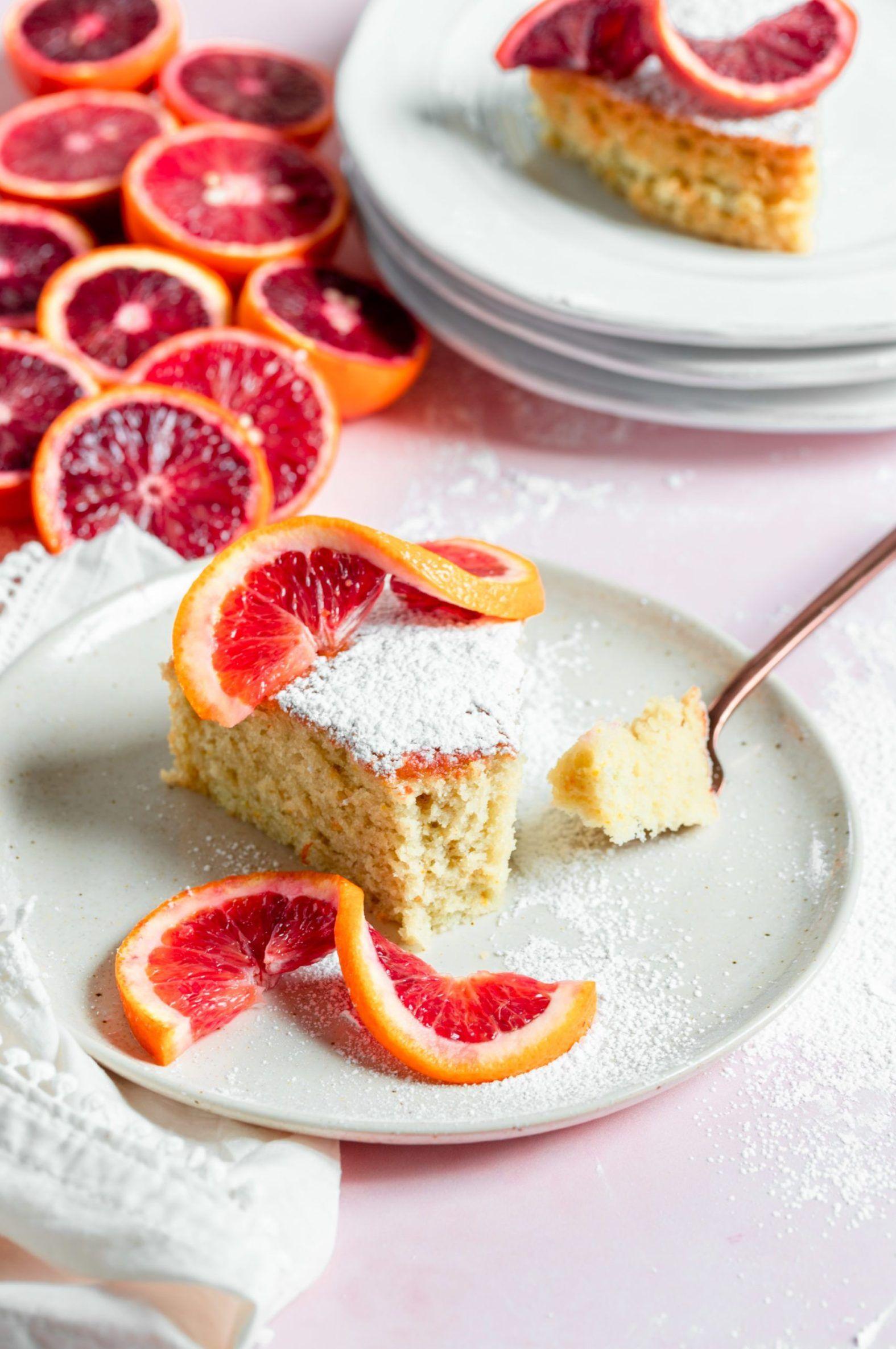Blood Orange Olive Oil Cake - Sprinkles & Sea Salt