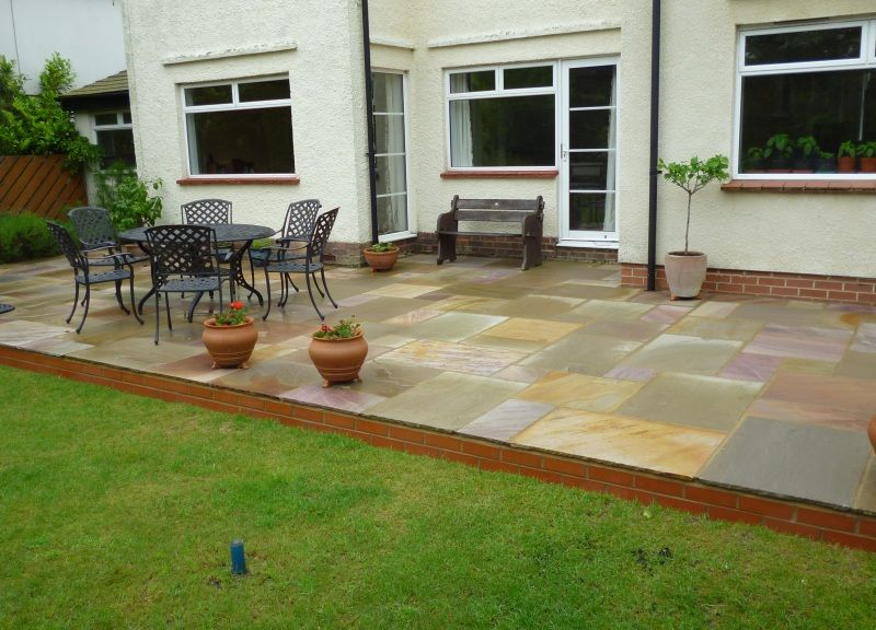 We Installed Some Stunning Warm Toned Paving Slabs That Totally Transformed  The Back Of The House! Natural Sandstone Raised Patio