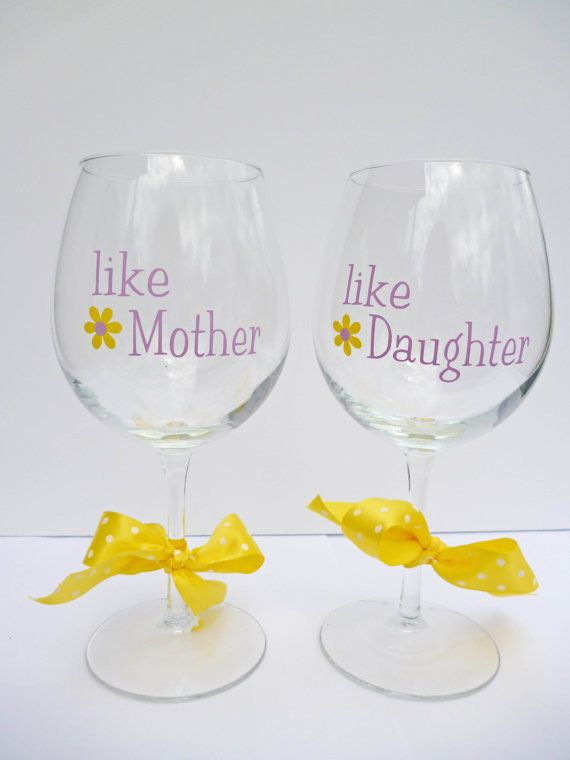 Mothers Day Gift Mother And Daughter Wine By BonniesBlossoms