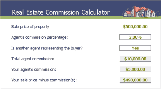 Real Estate Commission Calculator Templates 8 Free Docs Xlsx Pdf Statement Template Invoice Template Word Real Estate